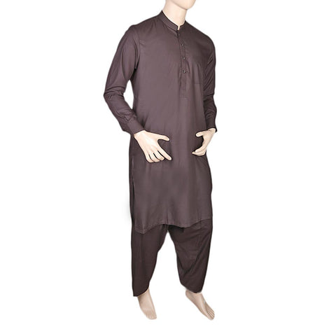 Eminent Shalwar Suit For Men - Dark Brown