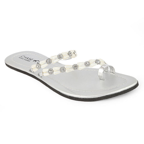 Women's Slipper  (J-530) - Silver