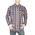 Eminent Slim Fit Check Shirt For Men - Brown