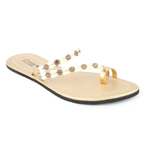 Women's Slipper  (J-530) - Golden