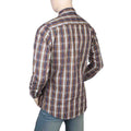 Eminent Slim Fit Check Shirt For Men - Dark Brown