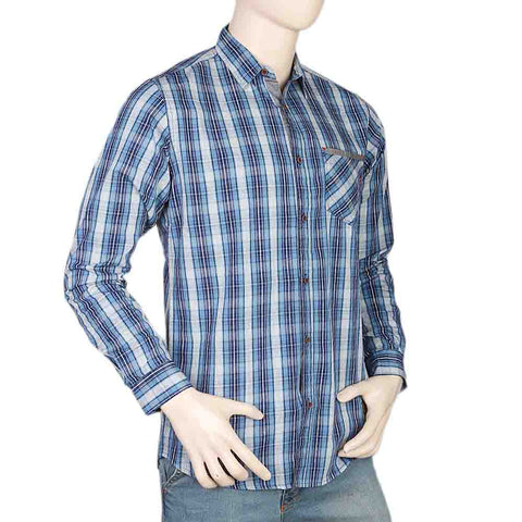 Eminent Slim Fit Check Shirt For Men - Blue