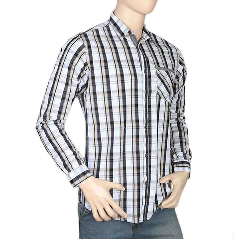 Eminent Slim Fit Check Shirt For Men - Black
