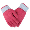 Women's Woolen Fancy Gloves - Pink