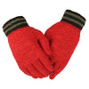 Women's Woolen Fancy Gloves - Red