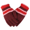 Women's Woolen Fancy Gloves - Maroon