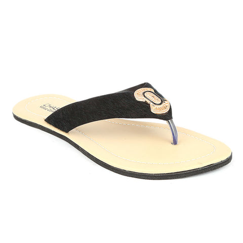 Women's Slipper  (J-521) - Black