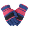 Women's Woolen Fancy Gloves - Royal-Blue