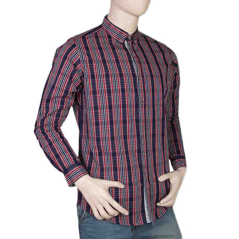 Eminent Slim Fit Check Shirt For Men - Red