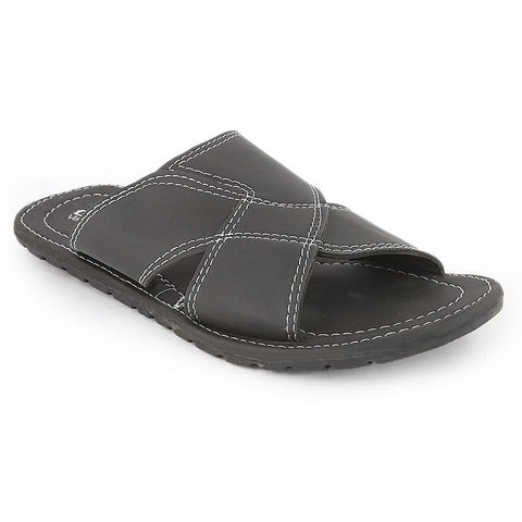 Men's Slippers (MS-732) - Black