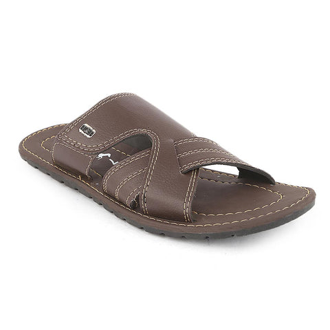 Men's Slippers (728) - Brown