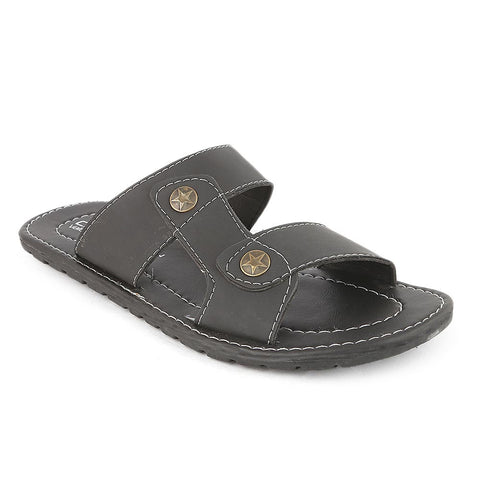 Men's Slippers (MS-743) - Black