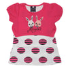 Girls Half Sleeves T-Shirt A08 - Pink