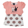 Girls Half Sleeves T-Shirt A08 - Peach