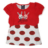 Girls Half Sleeves T-Shirt A08 - Red