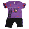 Boys Half Sleeves Suit - Purple