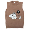 Boys Sleeveless Sweater - Brown