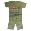 Boys Half Sleeves Suit - Green