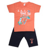 Boys Half Sleeves Suit - Orange