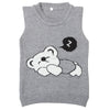 Boys Sleeveless Sweater - Grey