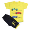 Boys Half Sleeves Suit - Lemon