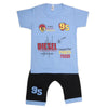 Boys Half Sleeves Suit - Blue