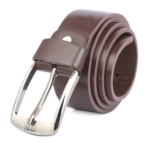 Men's Plain Belt - Brown