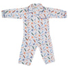 Boys Full Sleeves Night Suit - White