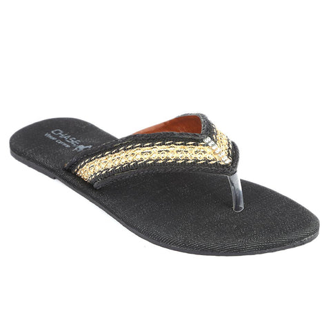 Girls Fancy Slippers (KL-004) - Black