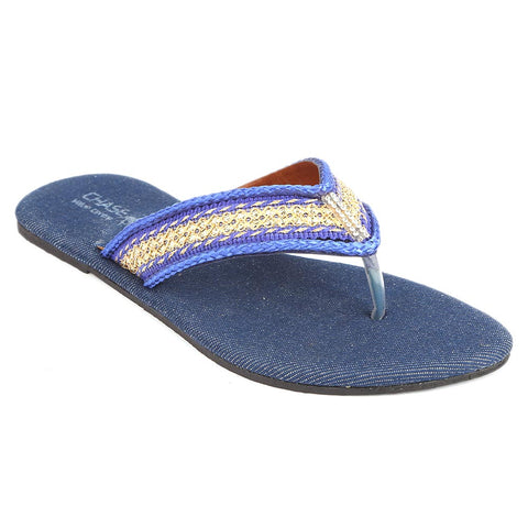 Girls Fancy Slippers (KL-004) - Blue