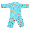 Boys Full Sleeves Night Suit - Sea Green