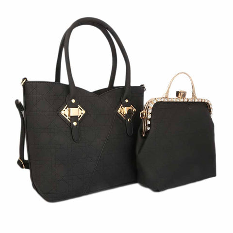 Women's Handbag (223J) 2 Pcs - Black