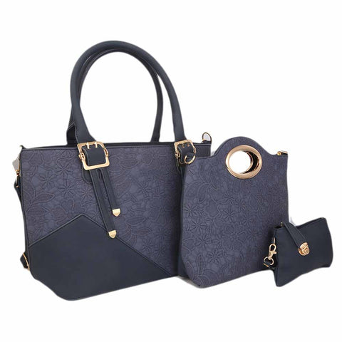 Women's Handbag (9728) 3 Pcs - Blue
