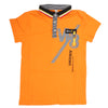 Boys Half Sleeves Polo T-Shirt - Rust