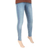 Women's Denim Side Stich Pant - Light Blue