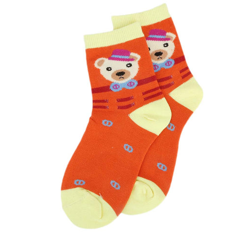 Kids Fancy Socks - Orange