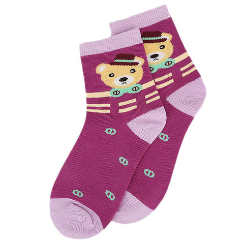 Kids Fancy Socks - Dark Purple