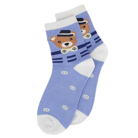 Kids Fancy Socks - Light Blue