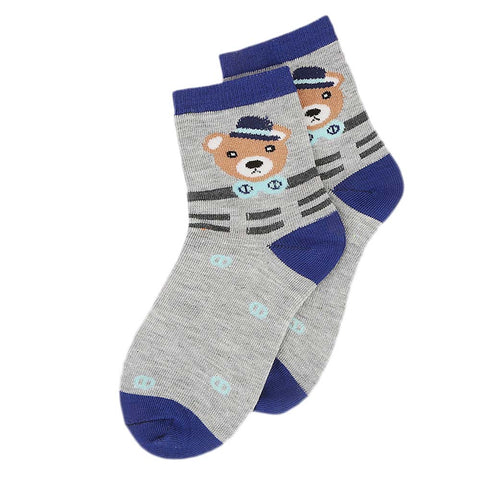 Kids Fancy Socks - Grey