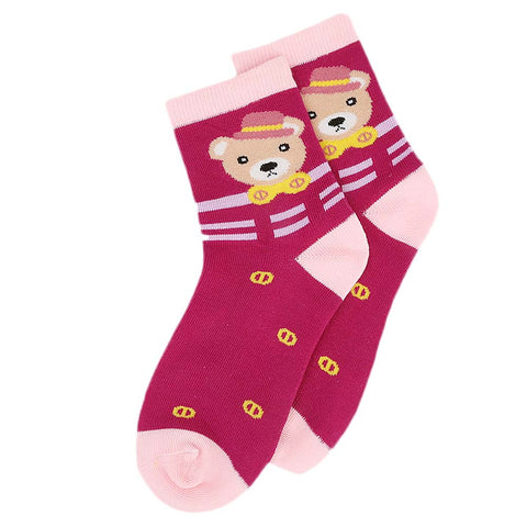 Kids Fancy Socks - Pink