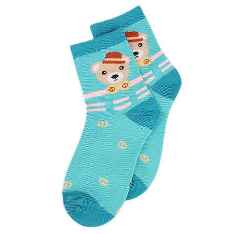 Kids Fancy Socks - Cyan