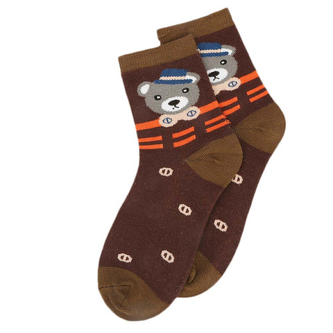 Kids Fancy Socks - Coffee