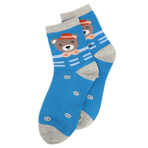 Kids Fancy Socks - Blue