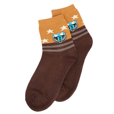 Kids Fancy Socks - Maroon