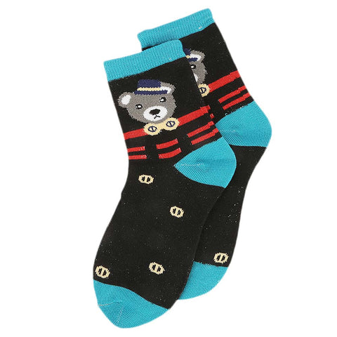 Kids Fancy Socks - Black