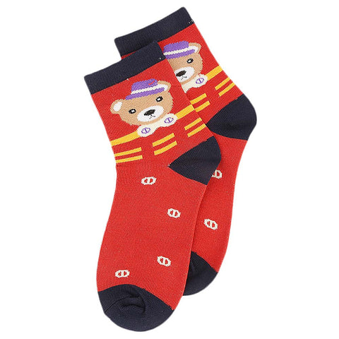 Kids Fancy Socks - Red