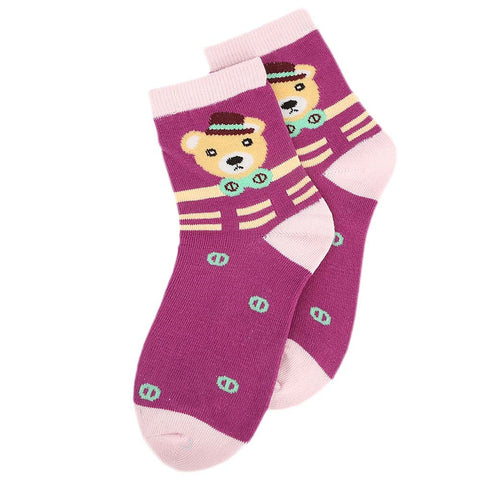 Kids Fancy Socks - Purple