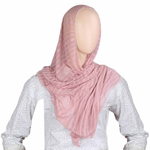 Women's Crinkle Scarf - Light Brown