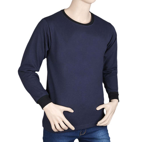 Mens Full Sleeves T-Shirt - Navy Blue