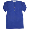 Girls Plain Khaddar Kurti - Royal Blue